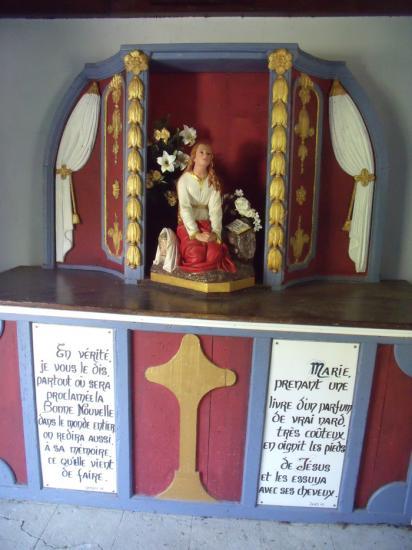 Petit autel dédié à Ste M.Madeleine