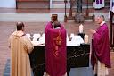 L'eucharistie, l'élévation du Précieux Sang