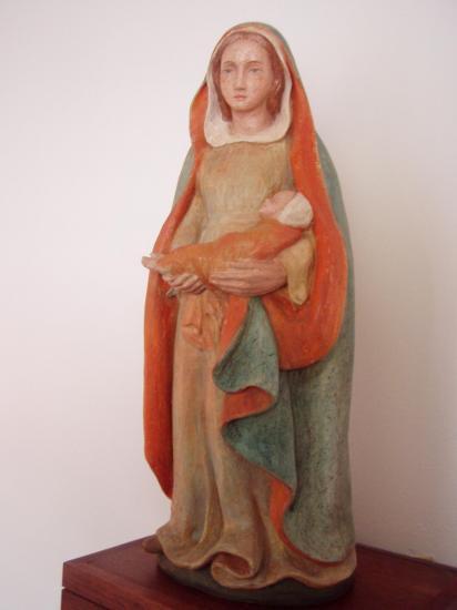 Vierge réalisée par Sr Mercedes-Dourgne