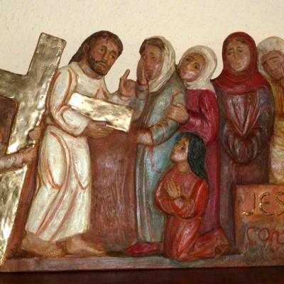 8ème station : Jésus console les femmes de Jérusalem