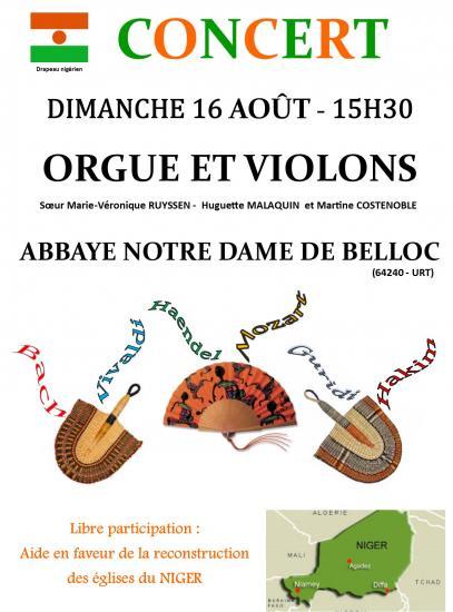 Annonce du concert 16 aout