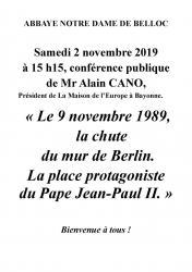Conference 2 novembre 2019