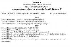 Cours du P. Marc sur Vatican II